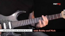 Modes of The Major Scale - Introduction - a FretHub online guitar lesson, with Bobby Harrison and Nick Radcliffe