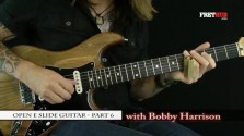 Slide: Open E part 6 - a FretHub online guitar lesson, with Bobby Harrison