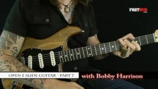Slide: Open E part 7 - a FretHub online guitar lesson, with Bobby Harrison