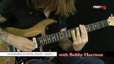 Slide: Standard Tuning 1 - a FretHub online guitar lesson, with Bobby Harrison