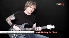 Substituting Pentatonics - Aeolian - a FretHub online guitar lesson, with Bobby Harrison and Nick Radcliffe