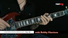 Soloing With Arpeggios - Part 20 - a FretHub online guitar lesson, with Bobby Harrison
