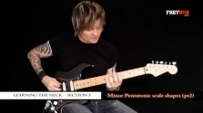 Minor Pentatonic Scale Shapes - Part 2 - a FretHub online guitar lesson, with Bobby Harrison