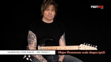 Major Pentatonic Scale Shapes - pt2 - a FretHub online guitar lesson, with Bobby Harrison